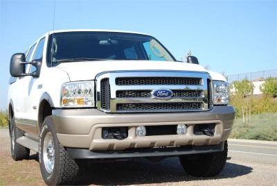 Sinister Diesel - Ford Chrome 05-07 Super Duty/Excursion Grille Fits 99-04