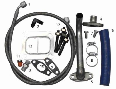 Turbos & Twin Turbo Kits - Turbo Accessories - Fleece Performance - 2001-2010 Duramax S300/S400 Turbo Installation Kit