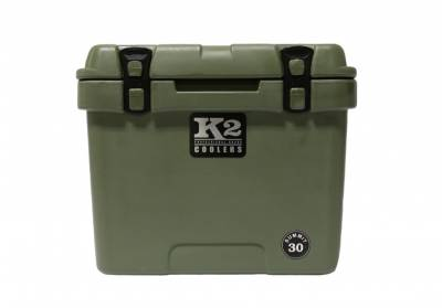 The Outdoors Life - Summit 30 Series Cooler - K2 Coolers - Summit 30- Duck Boat Green