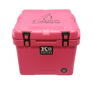 "The Outdoors Life - Summit 30 Series Cooler - K2 Coolers - Summit 30- Pink ""Just For Does"" Edition"