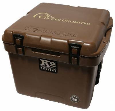 The Outdoors Life - Summit 30 Series Cooler - K2 Coolers - Summit 30- Ducks Unlimited Mud Brown