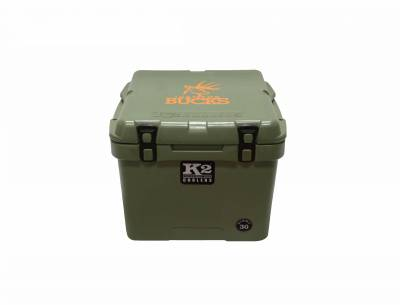 "The Outdoors Life - Summit 30 Series Cooler - K2 Coolers - Summit 30- Green ""Just For Bucks"" Edition"