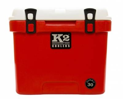 The Outdoors Life - Summit 30 Series Cooler - K2 Coolers - Summit 30- Red/White Lid
