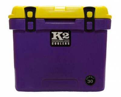 The Outdoors Life - Summit 30 Series Cooler - K2 Coolers - Summit 30- Purple/Yellow Lid *Geaux Tigers*