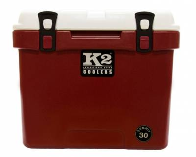 The Outdoors Life - Summit 30 Series Cooler - K2 Coolers - Summit 30- Crimson/White Lid