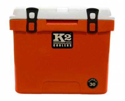 The Outdoors Life - Summit 30 Series Cooler - K2 Coolers - Summit 30- Orange/White Lid