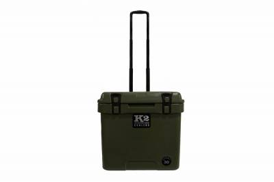 The Outdoors Life - Summit 30 Series Cooler - K2 Coolers - Summit 30- Duck Boat Green with Wheels