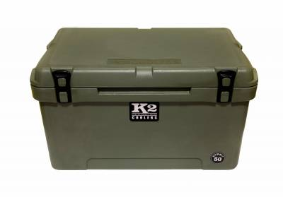 The Outdoors Life - Summit 50 Series Cooler - K2 Coolers - Summit 50 - Duck Boat Green