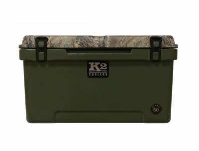 The Outdoors Life - Summit 50 Series Cooler - K2 Coolers - Summit 50 - Green/Real Tree Xtra Camo Lid