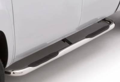 LUND - LUND - 3 In ROUND BENT STAINLES STEEL (1999-2017 Chevrolet 2500/3500 Standard Cab)