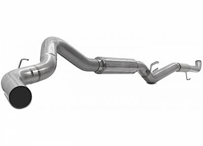 "Exhaust Systems / Manifolds - Turbo Back Single - Jamo Performance Exhaust  - 2007.5-2010 GM 5"" Race Exhaust with Muffler"