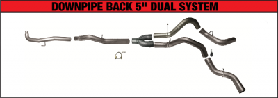 "Flo Pro - 11-15 DMAX 5"" Down Pipe Back Dual Kit"