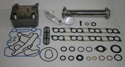 IPR - IPR GEN2 EGR Delete Kit, Ford OEM Oil Cooler & Gaskets for all 2003-2004 Ford Powerstroke 6.0 will fit F250, F350, F450