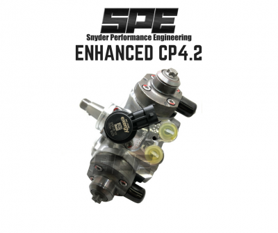 Snyder Performance Engineering (SPE) - SPE ENHANCED CP4.2 HIGH PRESSURE FUEL PUMP- SUPPORTS UP TO 650HP