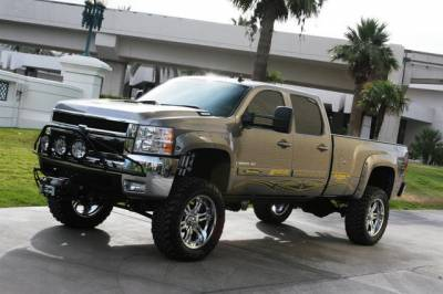 "BulletProof Suspension  - BulletProof Suspension 2001-2010 Chevy-GMC 2500-3500 6""-8"" Lift Kit - Option 5 (Upgraded+++)"