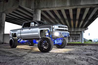 """BulletProof Suspension  - BulletProof Suspension 2011-2018 Chevy-GMC 2500-3500 10""""-12"""" Lift Kit - Option 4 (All+ Rear Cantilever)"""