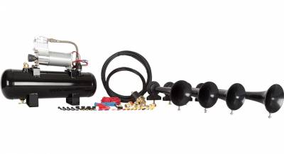 08-10 6.4L Power Stroke - Exterior Accessories - HornBlasters - HornBlasters Conductor's Special 228V Train Horn Kit