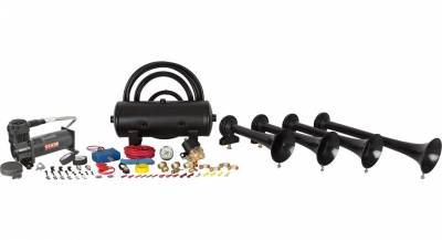 08-10 6.4L Power Stroke - Exterior Accessories - HornBlasters - HornBlasters Conductor's Special 244 Nightmare Edition Train Horn Kit