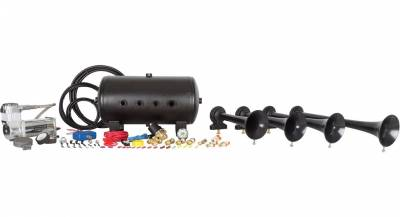 08-10 6.4L Power Stroke - Exterior Accessories - HornBlasters - HornBlasters Conductor's Special 540 Train Horn Kit