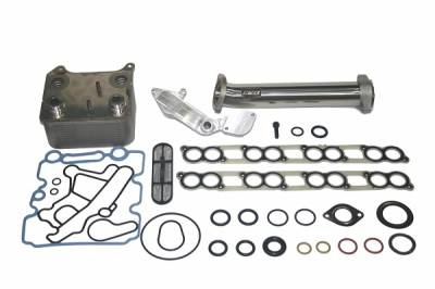 Shop by Category - Emissions Equipment - IPR - IPR GEN2 EGR Delete Kit, Ford OEM Oil Cooler & Gaskets for all 2005-2007 Ford Powerstroke 6.0 will fit F250, F350, F450