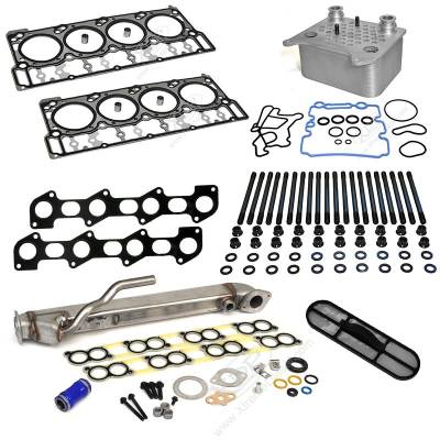 Engine Parts & Performance - Engine Rebuild Kit - XDP Diesel Power - XDP Powerstroke Solution Kit with Black Diamond Head Gaskets - 18mm Dowel Size
