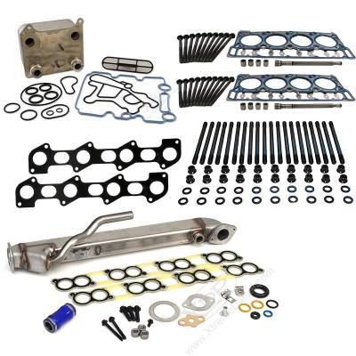 XDP Diesel Power - XDP Powerstroke Solution Kit with Ford Factory Head Gaskets - 18mm Dowel Size