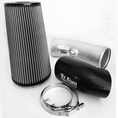 No Limit Fabrication  - 6.7 Cold Air Intake 11-16 Ford Super Duty Power Stroke Raw Dry Filter Stage 2 No Limit Fabrication