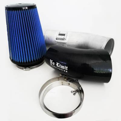 No Limit Fabrication  - 6.7 Cold Air Intake 11-16 Ford Super Duty Power Stroke Raw Oiled Filter Stage 1 No Limit Fabrication
