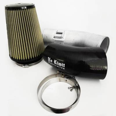 No Limit Fabrication  - 6.7 Cold Air Intake 11-16 Ford Super Duty Power Stroke Raw PG7 Filter Stage 1 No Limit Fabrication
