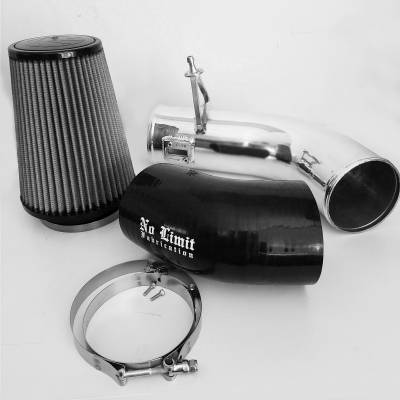 No Limit Fabrication  - 6.7 Cold Air Intake Polished Dry Filter 2017-Present No Limit Fabrication