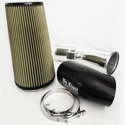 Air Intakes & Parts - Cold Air Intake - No Limit Fabrication  - 6.7 Cold Air Intake Polished PG7 Filter 2017-Present No Limit Fabrication