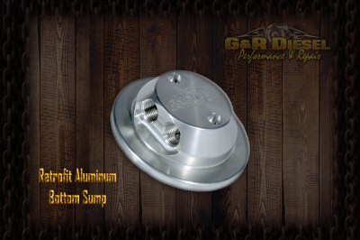 Lift Pumps & Fuel Systems - Fuel Sumps - G&R Diesel - G&R Diesel Bolt-in Retrofit Billet Aluminum Bottom Sump w/ Return