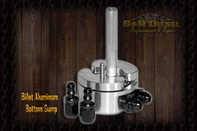 Lift Pumps & Fuel Systems - Fuel Sumps - G&R Diesel - G&R Diesel Billet Aluminum Bottom Sump w/ Integrated Return