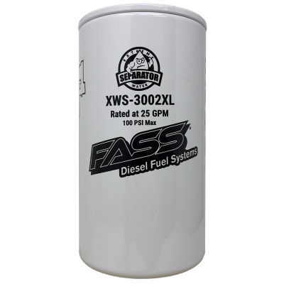 Lift Pumps & Fuel Systems - Replacement Filters - FASS - FASS-Titanium Signature Series Extended Length Extreme Water Separator XWS-3002XL