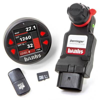 Tuners & Programmers - Tuners / Programmers - Banks Power - Derringer Tuner, w/DataMonster with ActiveSafety, includes Banks iDash 1.8 DataMonster