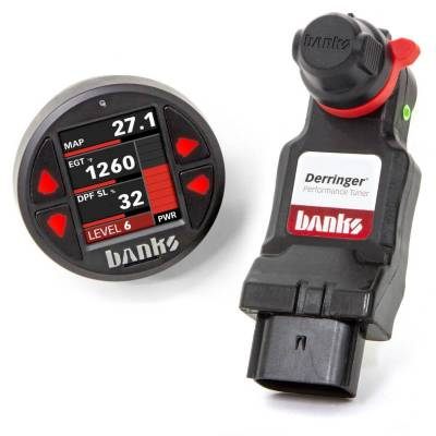 Tuners & Programmers - Tuners / Programmers - Banks Power - Derringer Tuner, w/SuperGauge with ActiveSafety, includes Banks iDash 1.8 SuperGauge