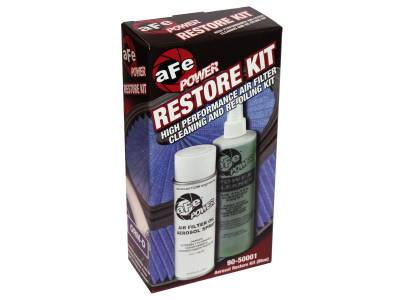 Air Intakes & Parts - Cleaning Kits - AFE - Air Filter Restore Kit: 6.5 oz Blue Oil & 12 oz Power Cleaner (Aerosol Spray Oil)