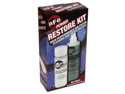 Air Filter Restore Kit: 6.5 oz Blue Oil & 12 oz Power Cleaner (Aerosol Spray Oil)