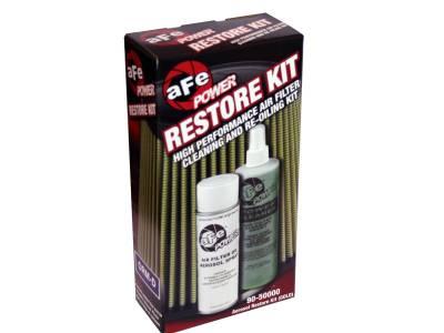 Air Filter Restore Kit: 6.5 oz Gold Oil & 12 oz Power Cleaner (Aerosol Spray Oil)
